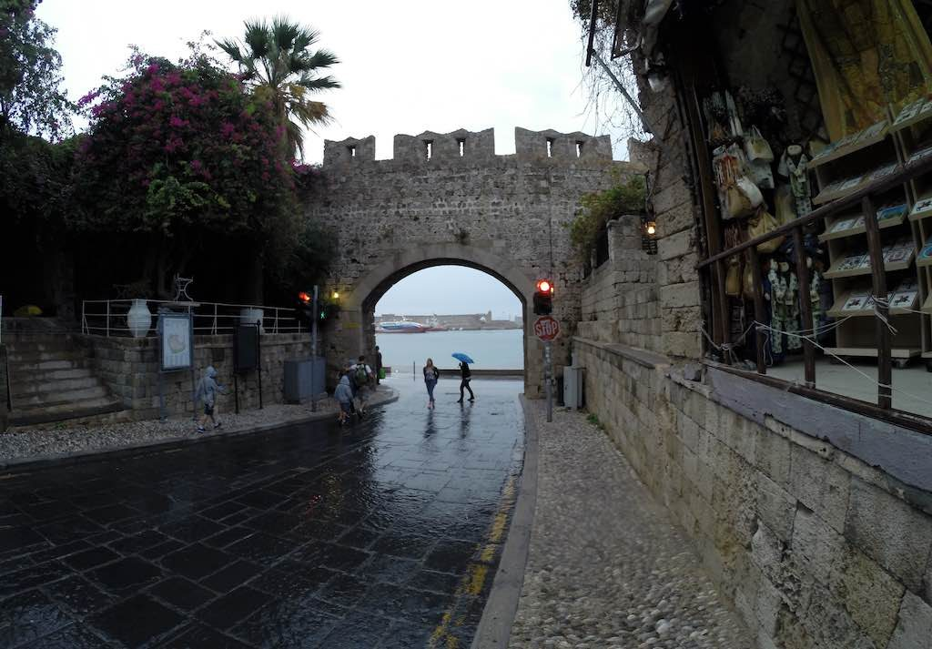 Rhodes, Greece - Entrance to Fort