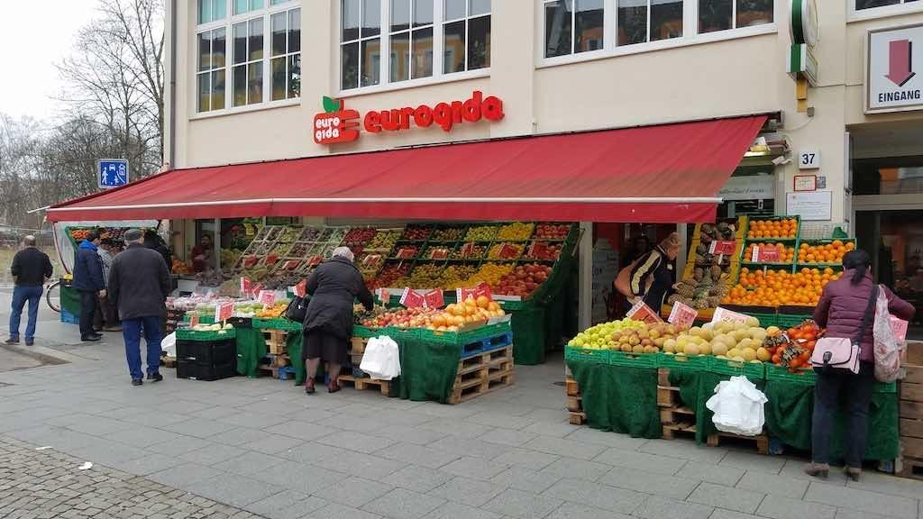 Spandau, Germany - Eurogida fruit market