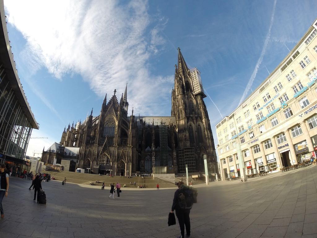 Cologne, Germany - Cologne Cathedral and Train Station
