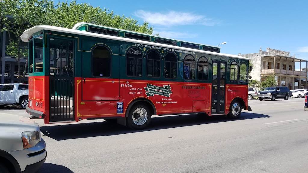 Fredericksburg, Texas USA - Hop on/Hop off Trolley
