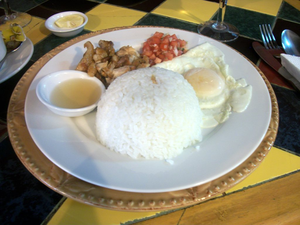 Manila, Philippines - chicken and rice