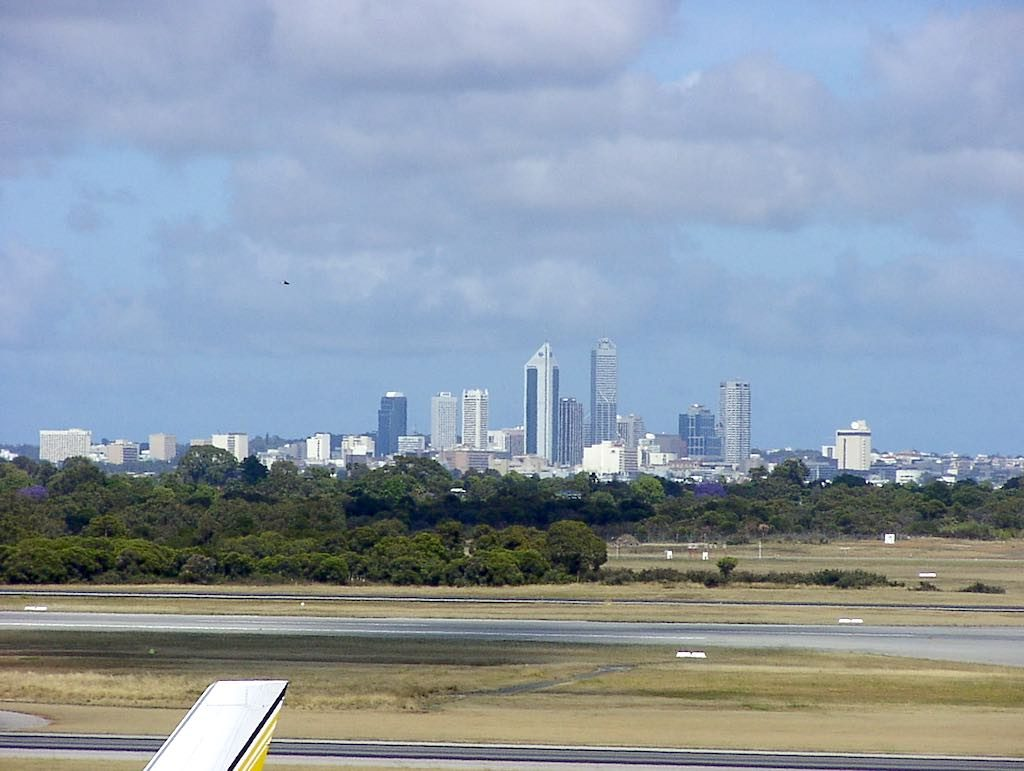 Perth Australia - Perth seen from the airport