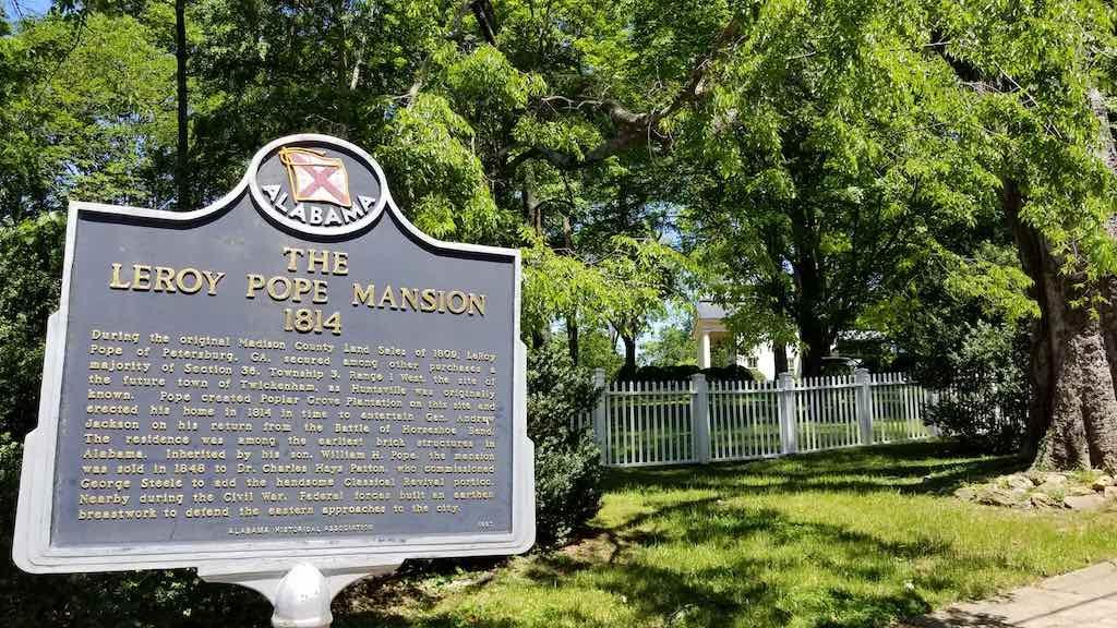 Huntsville, Alabama USA - Leroy Pope Mansion