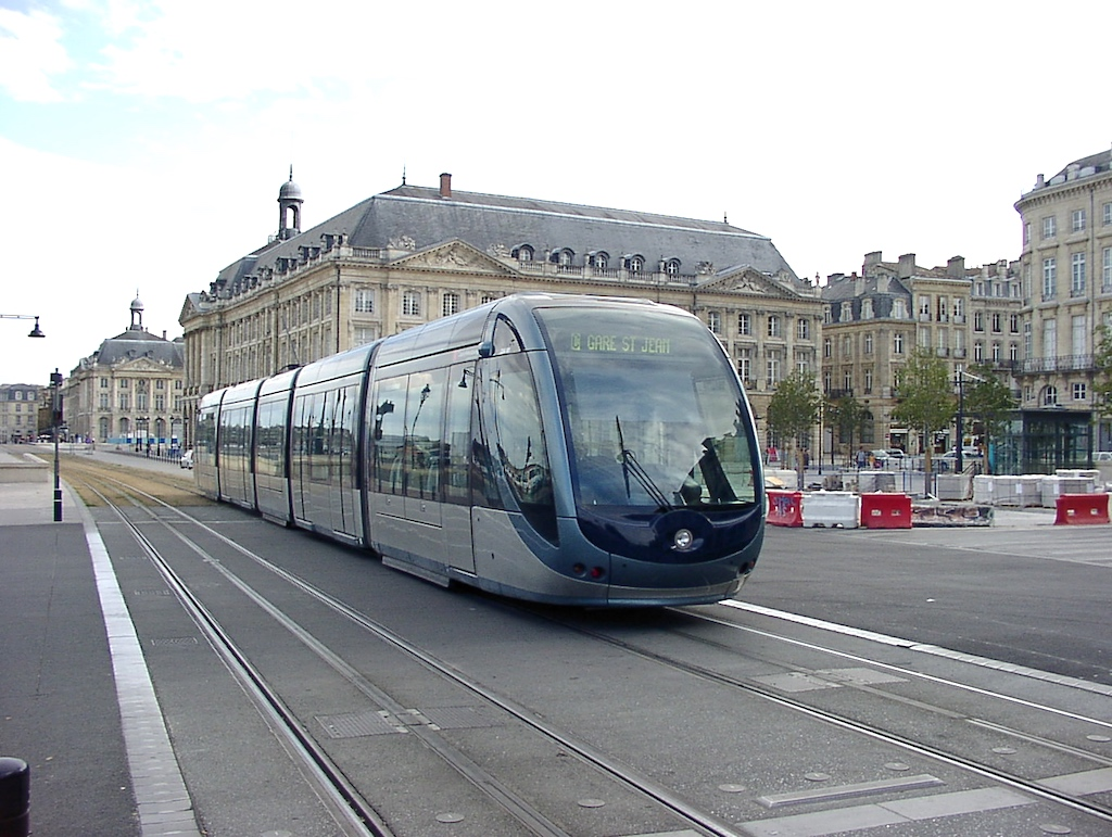 Bordeaux, France - Place de la Bourse Light Rail