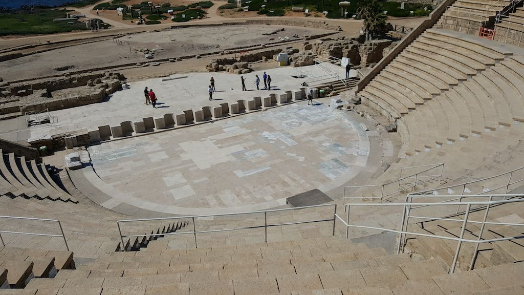 Caesarea National Park, Israel - Amphi-theatre from top