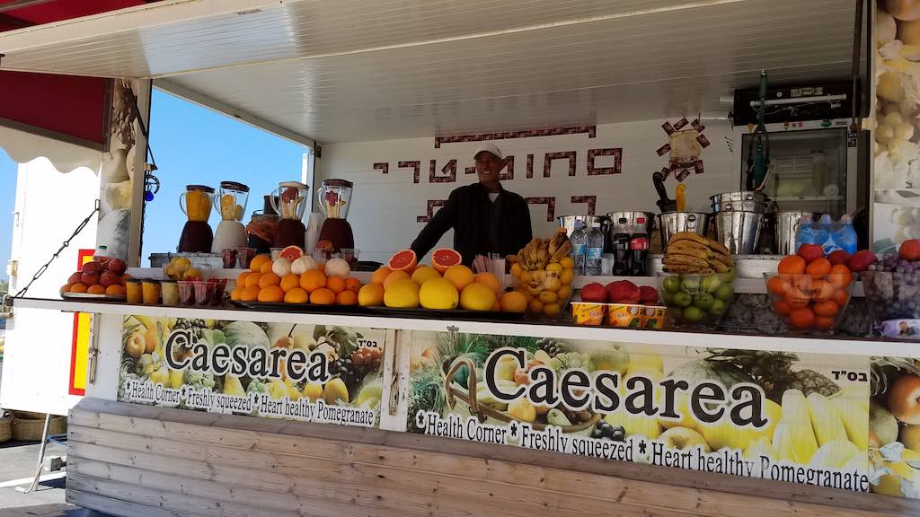 Caesarea National Park Israel - Fruit Vendor