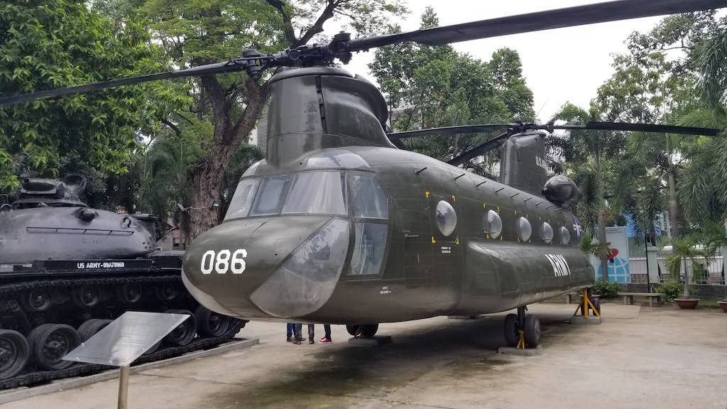 Ho Chi Minh City, Vietnam - War Remnants Museum Helicopter