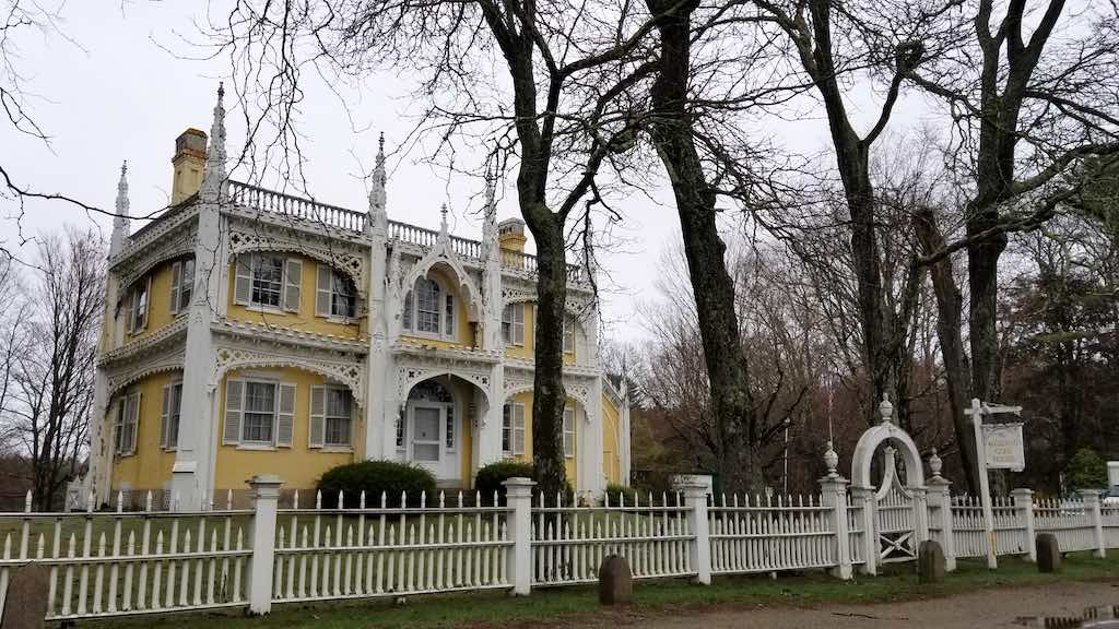 Kennebunkport Maine Usa The Wedding Cake House Unfamiliar