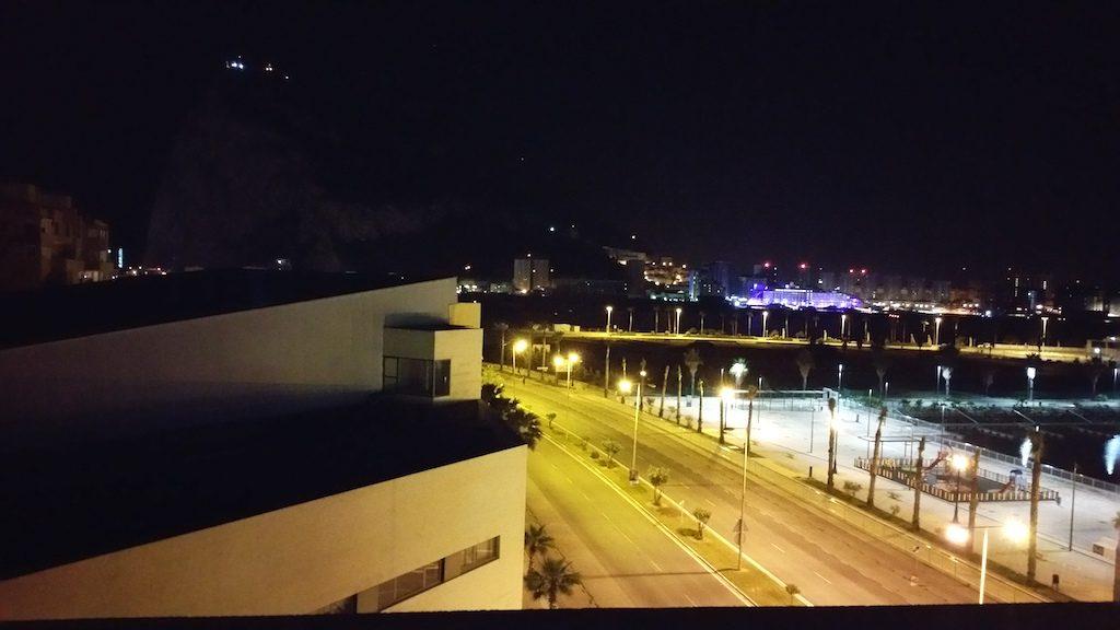 La Línea de la Concepción Cádiz, Spain View to Gibraltar from room