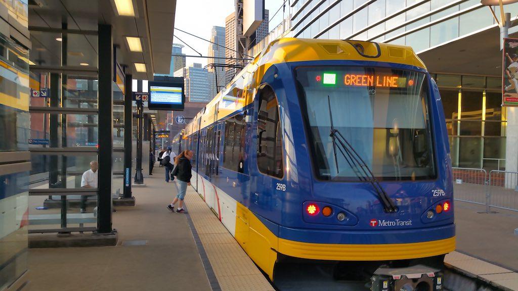 Minneapolis, Minnesota USA - Green Line