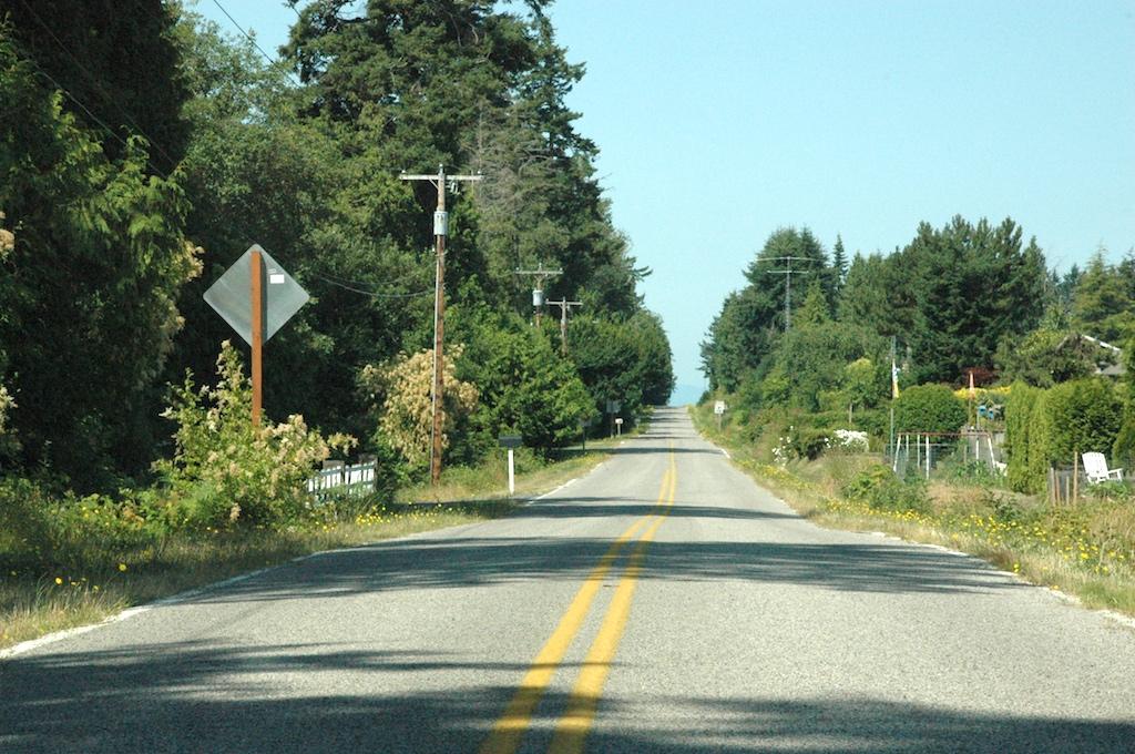 Point Roberts USA - Street at Border