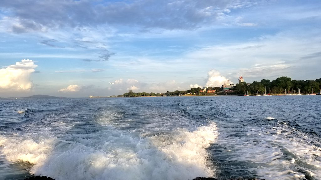 Pulau Ubin, Singapore - View from Back of BumpBoat