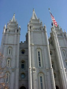 Salt Lake City, Utah USA - Mormon Temple