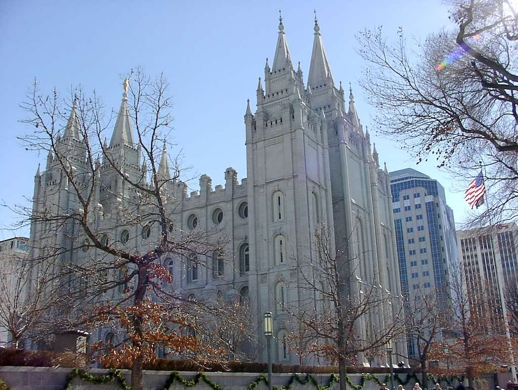 Salt Lake City, Utah USA - Mormon Temple in Temple Square