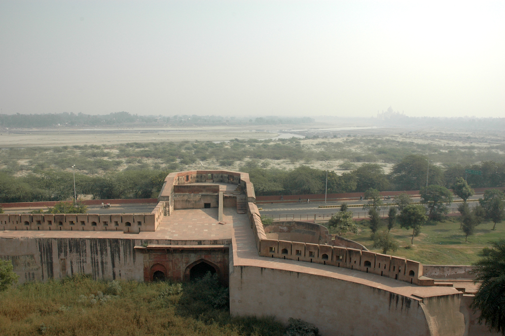 Agra Fort, India - View of the Taj Mahal