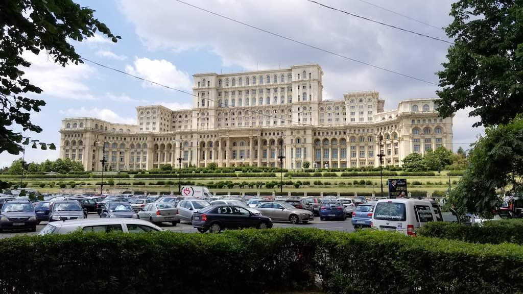 Bucharest, Romania - Nicolae Ceausescu's Palace of Parliament