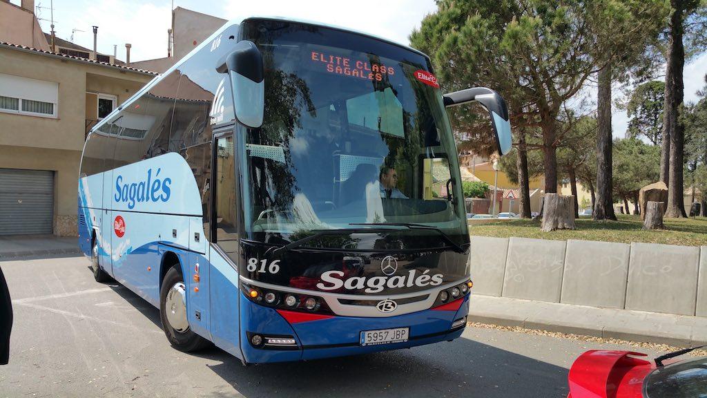 Caldes de Malavella, Girona, Spain - Sagalés bus