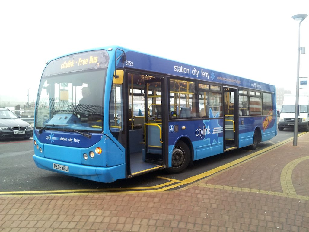Cowes, Isle of Wight, United Kingdom - City Link Bus