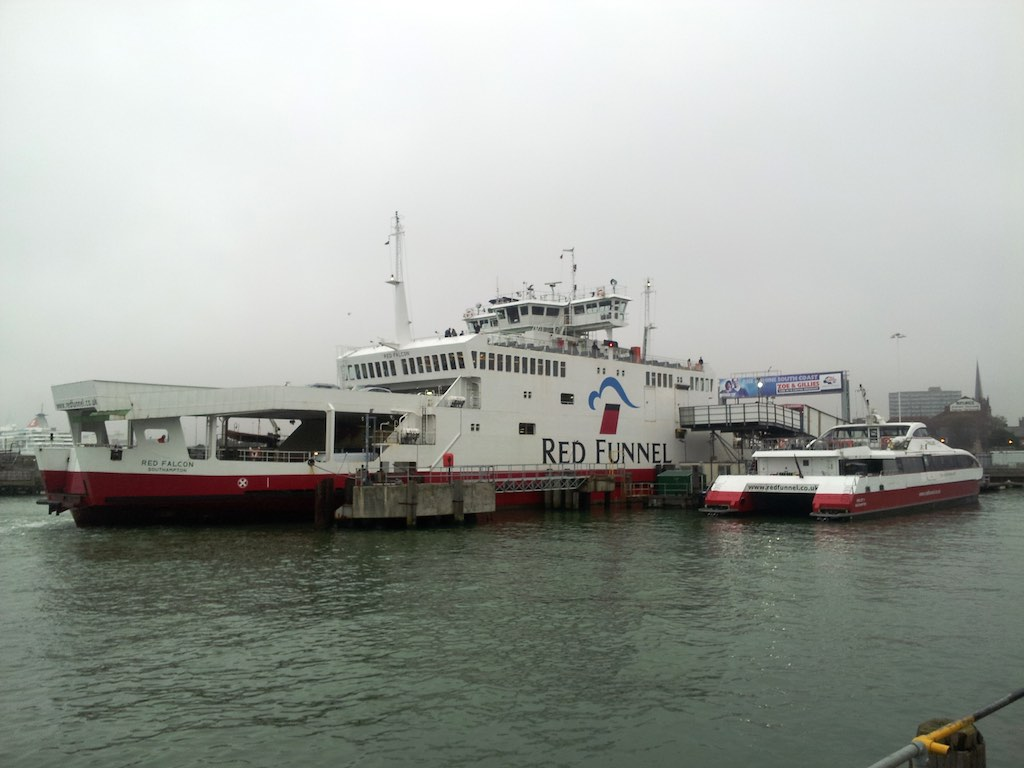 Cowes, Isle of Wight, United Kingdom - Redjet ferries