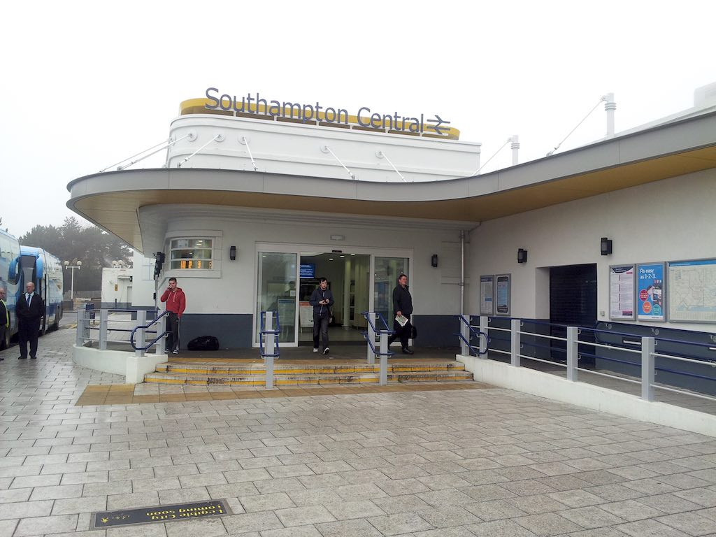 Cowes, Isle of Wight, United Kingdom - Southampton Central Station