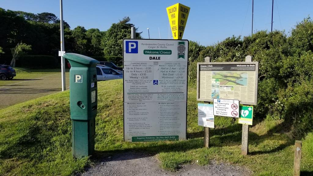Dale, Pembrokeshire, Wales UnitedKingdom - Parking