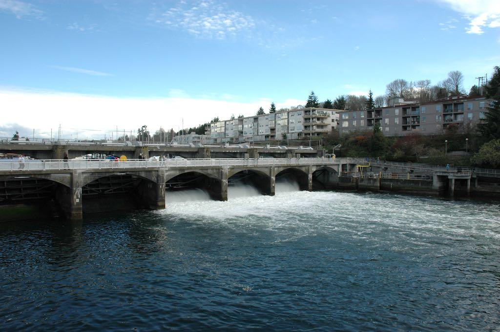 Hiram M. Chittenden Locks, Seattle, Washington USA - Dam