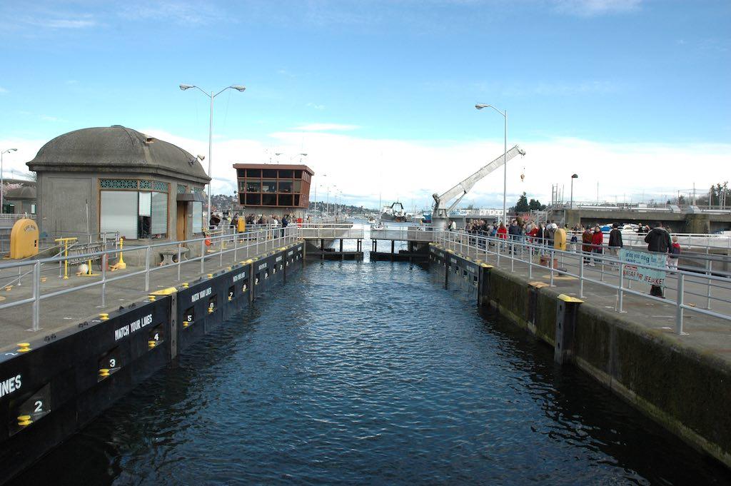 Hiram M. Chittenden Locks, Seattle, Washington USA