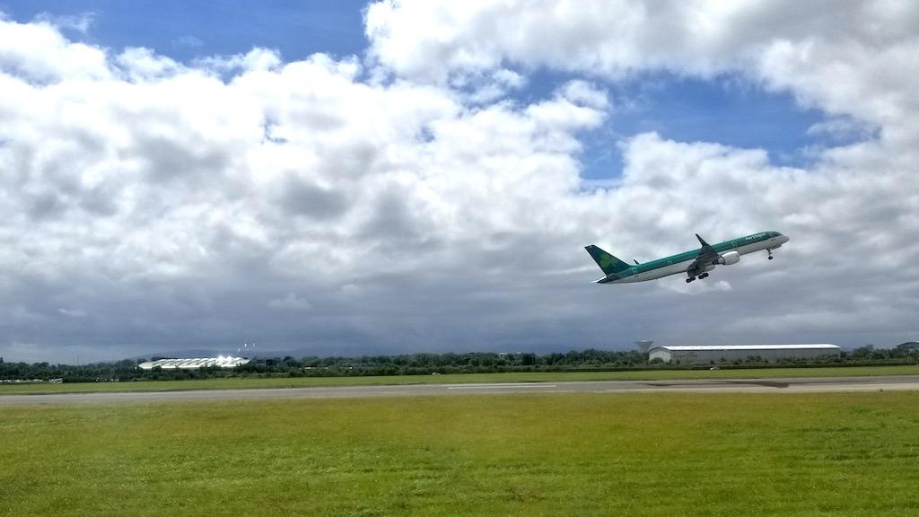 Malahide, Ireland - Aer Lingus Boeing 757 Taking off from DUB