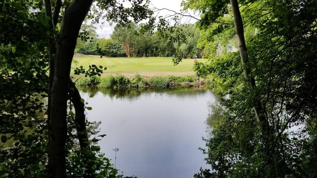 Milltown, Dublin, Ireland - River Dodder and Milltown Golf Course