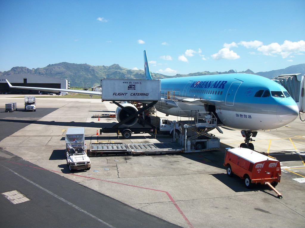 Nadi, Viti Levu, Fiji - Korean Air A330 in Nadi Airport (NAN)