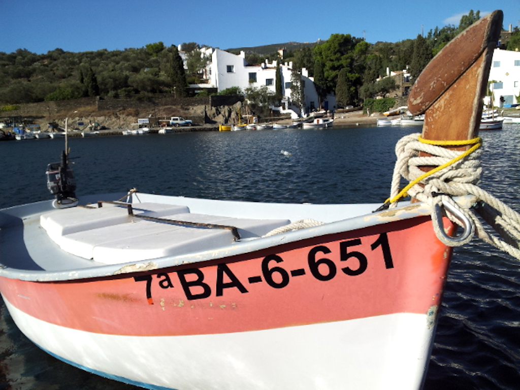 Portlligat, Spain - Salvatore Dali's House from boat
