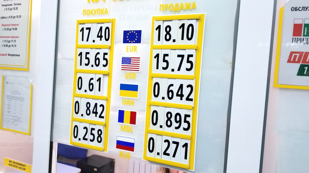 Tiraspol, Transnistra - Currency Exchange Rate