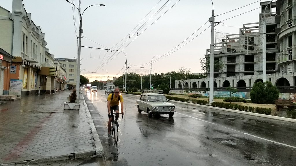 Tiraspol, Transnistra - Cyclist Lada