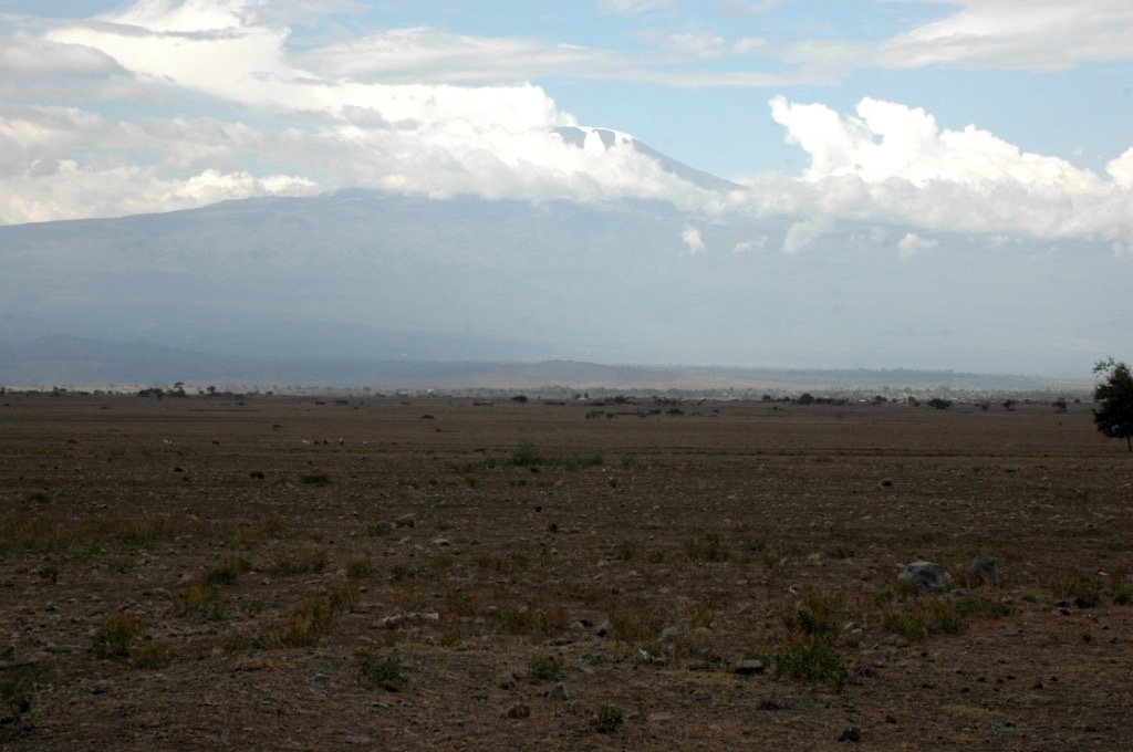 Arusha, Tanzania - Killimanjaro from the Arusha highway