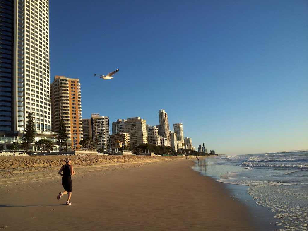 Gold Coast, Queensland, Australia - Running on the beach