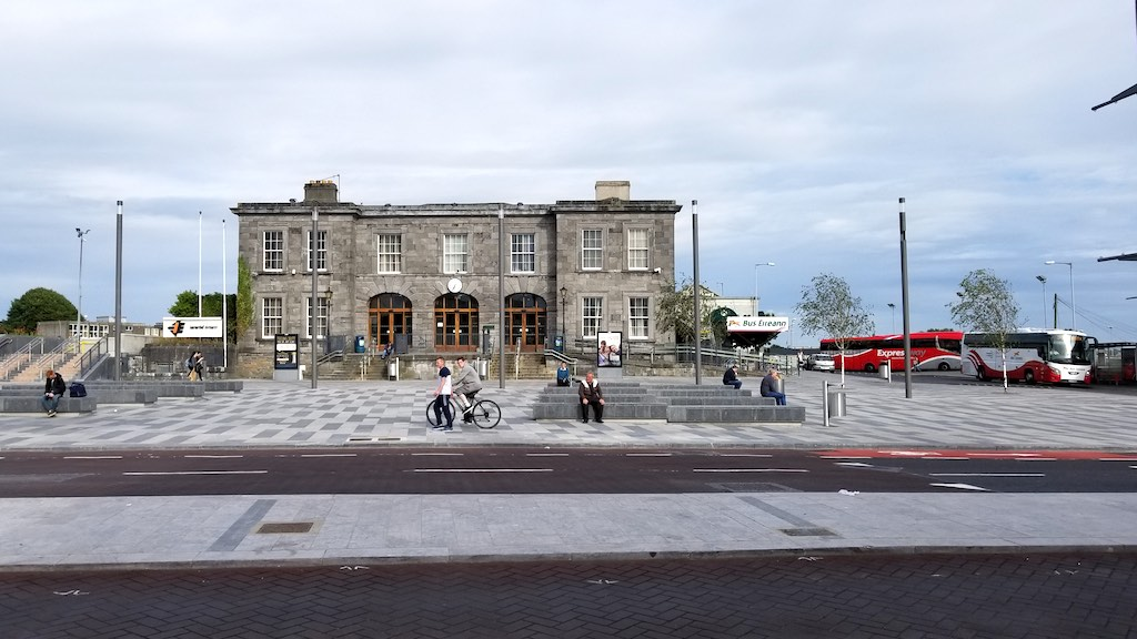 Limerick City, Ireland - Train Station Bus Station