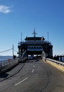 Mukilteo, Washington USA - Boarding Ferry