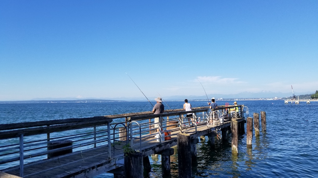Mukilteo, Washington USA - Fishermen