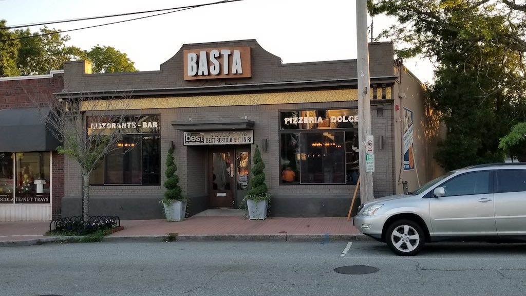 Pawtuxet Village, Rhode Island USA - Basta Restaurant