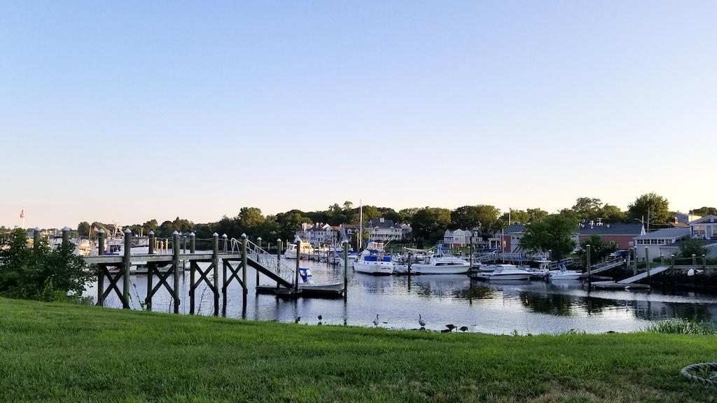 Pawtuxet Village, Rhode Island USA - Boats