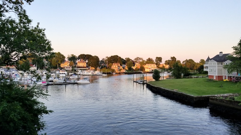 Pawtuxet Village, Rhode Island USA - Houses on the River