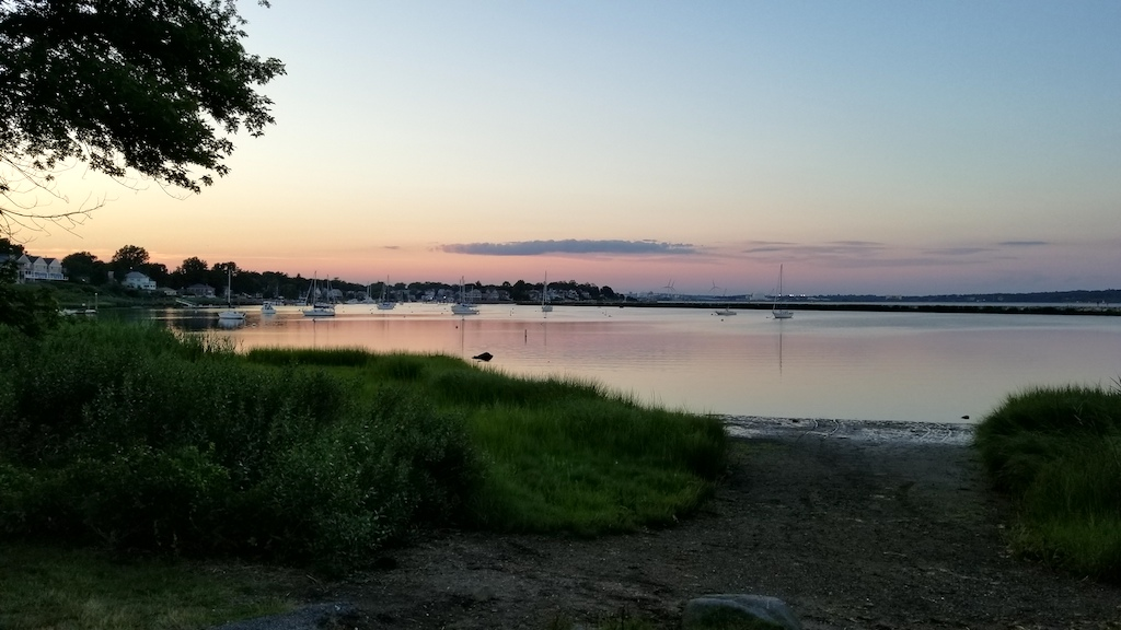 Pawtuxet Village, Rhode Island USA - Providence River sunset