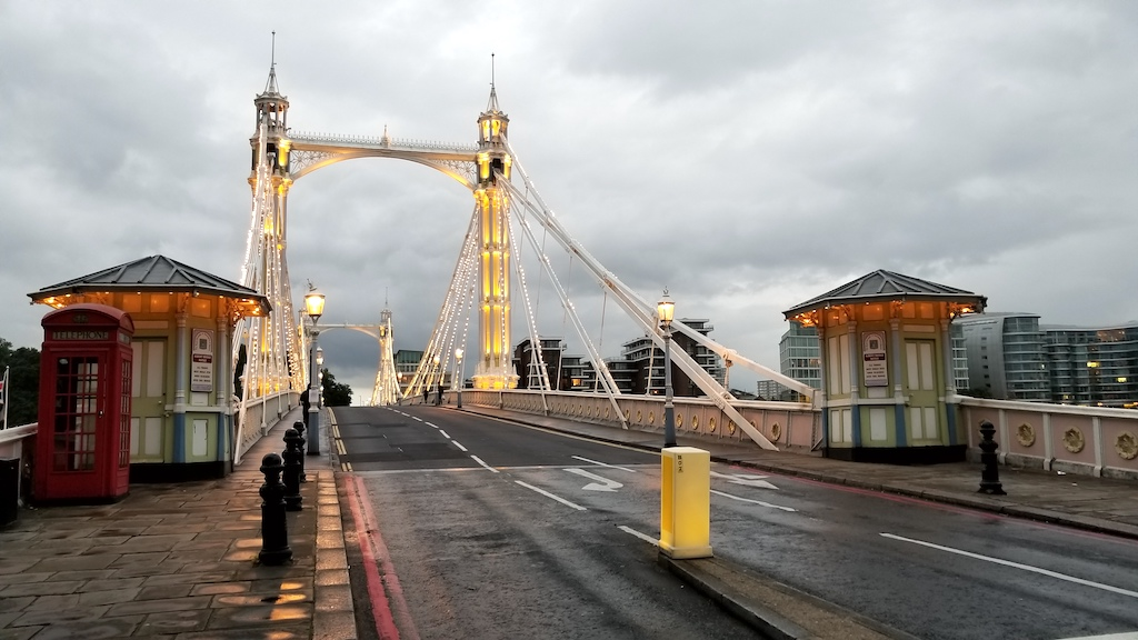 Albert Bridge, London United Kingdom - Albert Bridge roadway