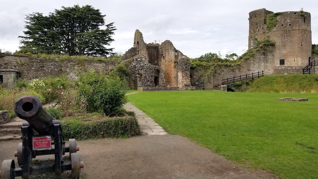 Caldicot Wales, United Kingdom- Caldicot Castle Canon