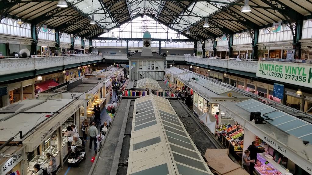 Cardiff Wales, United Kingdom - Cardiff Market