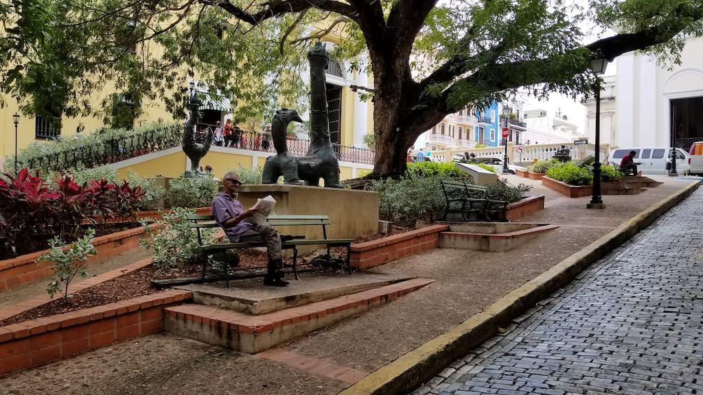 Hotel El Convento, Old San Juan, Puerto Rico - Park in front of hotel