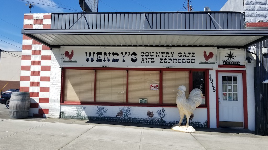 Everett, Washington USA - Wendy's Country Cafe and Espresso