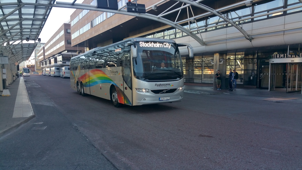 Kungsholmen, Stockholm, Sweden - Flygbussarna bus to the airports
