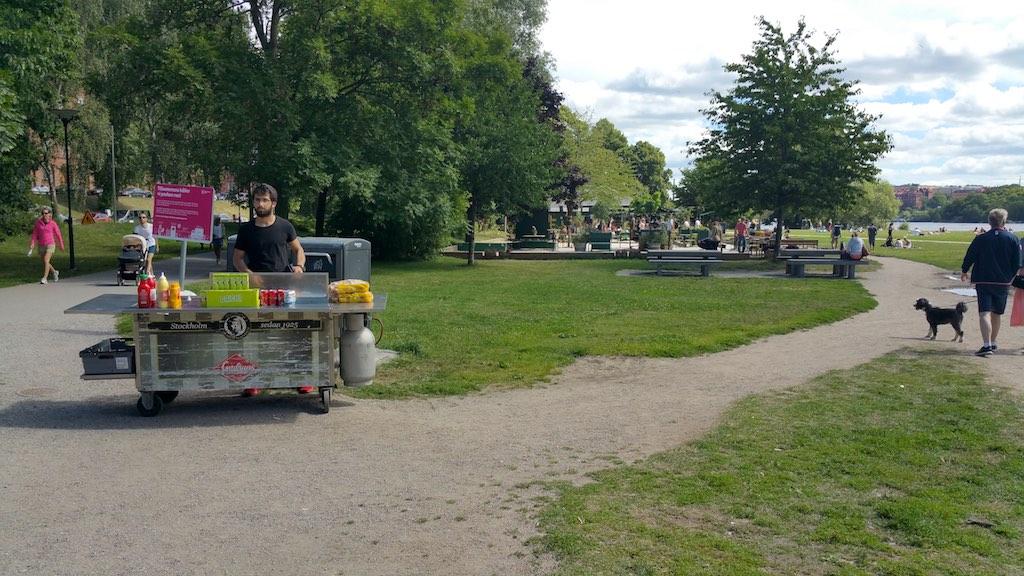 Kungsholmen, Stockholm, Sweden - Rålambshovsparken Foodstall