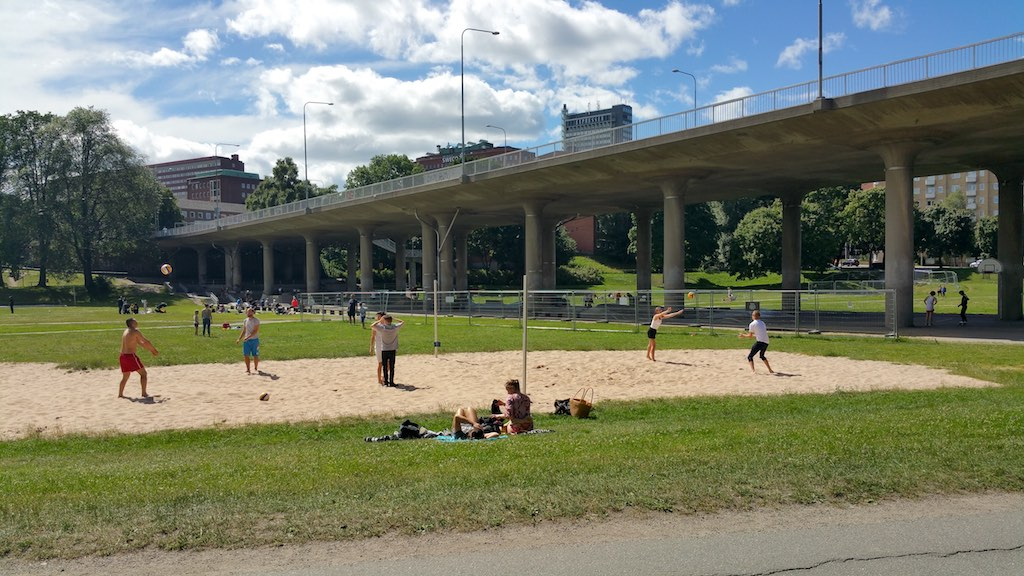 Kungsholmen, Stockholm, Sweden - Rålambshovsparken Volleyball